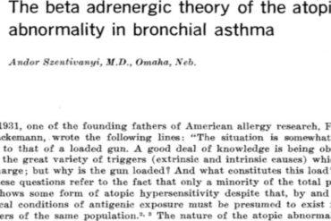 Andor Szentivanyi Beta Adrenergic Theory Asthma