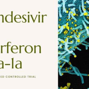 NIH controlled trial interferon beta-1a plus remdesivir treating COVID-19