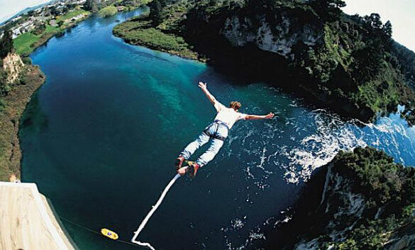 bungee jumping and stress